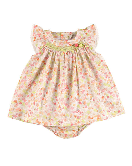 Pili Carrera Sleeveless Embroidered Floral Shift Dress w/ Bloomers, ...