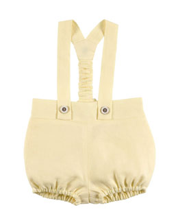 Linen Bubble Overalls, Yellow, Size 6-18 Months
