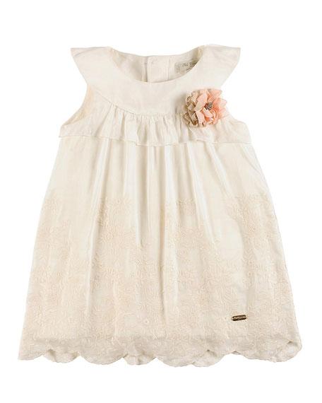 Pili Carrera Sleeveless Embroidered Shift Dress, White, Size