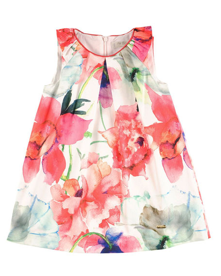 Pili Carrera Sleeveless Floral Shift Dress, Multicolor, Size 4-10