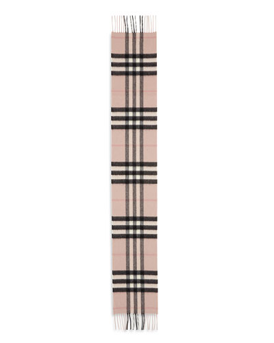 Kids' Exploded Check Cashmere Scarf, Ash Rose