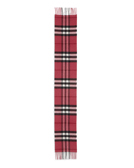 Kids' Exploded Check Cashmere Scarf, Fuchsia