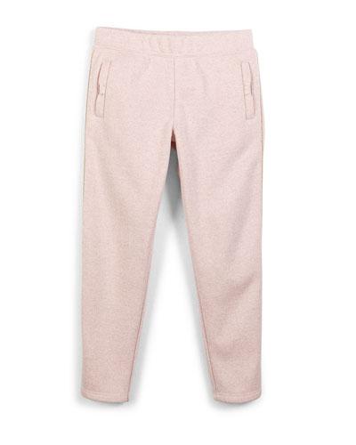 metallic slim-fit sweatpants, strawberry cream, s-xl