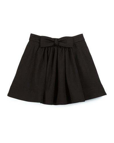 bon bon bow a-line skirt, black, size 7-14