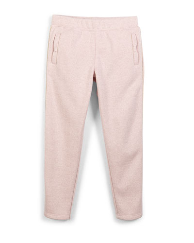 metallic slim-fit sweatpants, strawberry cream, 2-6