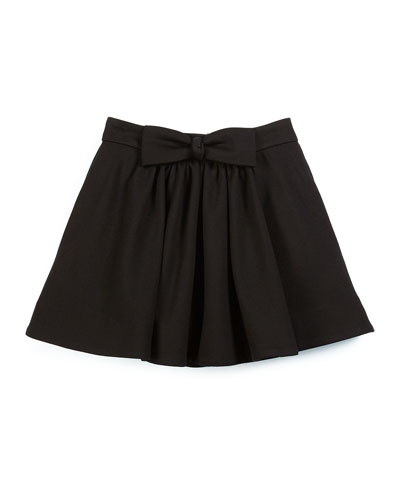 bon bon bow a-line skirt, black, size 2-6