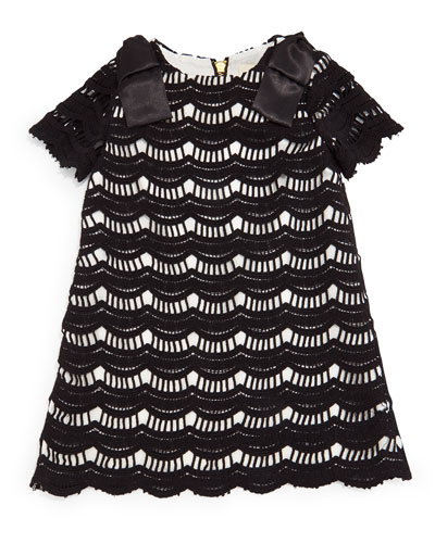 virginia lace-overlay shift dress, black, size 2-6