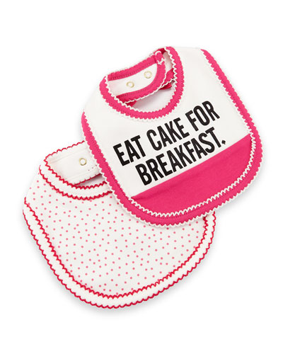 Eat Cake for Breakfast Bib Set