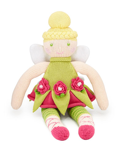 Knit Cotton Fairy Doll, Green