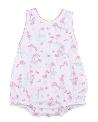 Flamingo Island Pima Playsuit, Pink, Size 0-9 Months