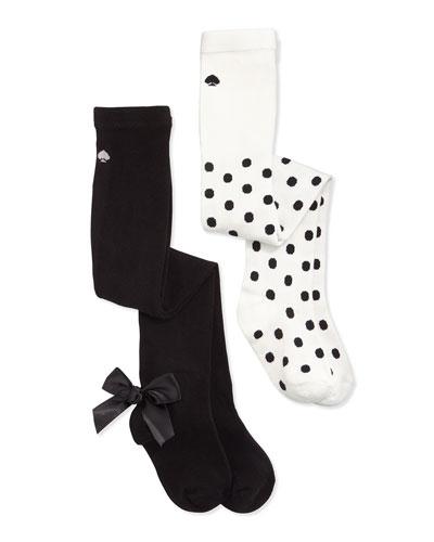 tights gift set, cream/black, size 2-5