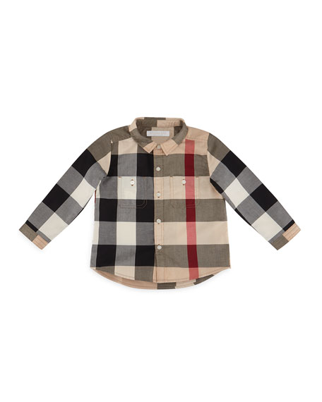 Burberry Mini Camber Check Shirt, Classic, Size 6M-3