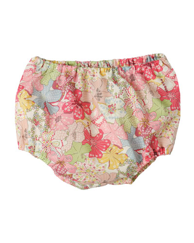 Floral Cotton Bloomers, Multicolor, Size 6-12 Months