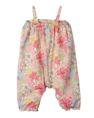 Floral Cotton Overalls, Multicolor, Size 6-12 Months