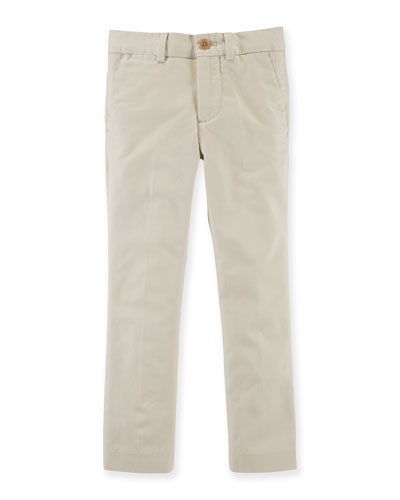 Stretch-Cotton Chino Pants, Size 2T-7