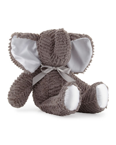 Large Plush Elephant Toy, Gray