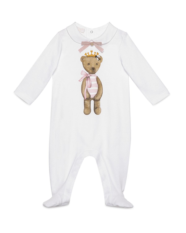 d0077b0e1 Gucci Cotton Teddy Bear Footie Pajamas