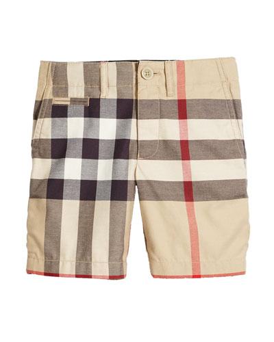 Tristen Classic Check Shorts, Tan, Size 4-14