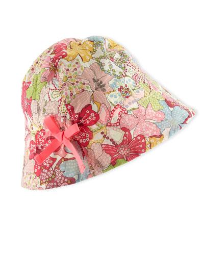 Floral Sun Hat, Pink