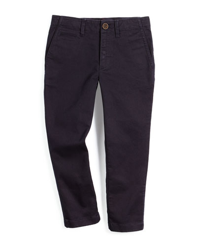 Teo Slim-Fit Chino Pants, Navy, Size 4-14