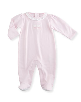 Pique Bears Pima Collared Footie Pajamas, Pink, Size Newborn-6 Months