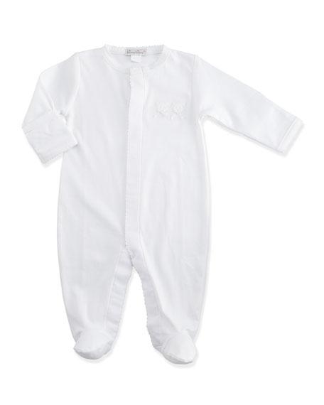 8cfa029d74f6 Kissy Kissy Pique Bears Pima Snap-Front Footie Pajamas   Baby Hat