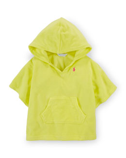Hooded Terry Pullover Coverup, Yellow, Size 9-24 Months