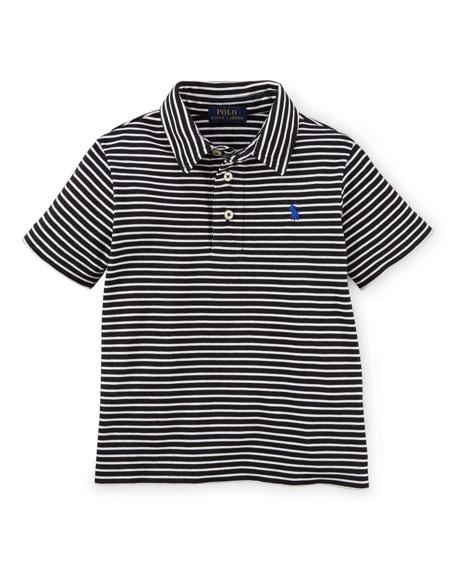Ralph Lauren Childrenswear Striped Short-Sleeve Pima Polo Shirt, ...