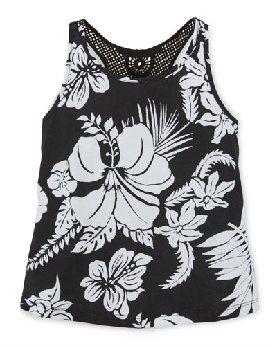 Printed Jersey Cruise Tank, Polo Black, Size 2-6X