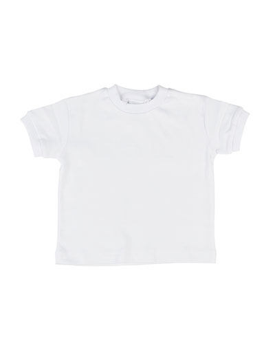 Cotton Interlock Jersey Tee, White, Size 3-24 Months
