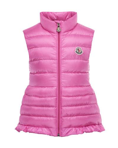 Cherame Down Lightweight Down Puffer Vest, Pink, Size 2-6