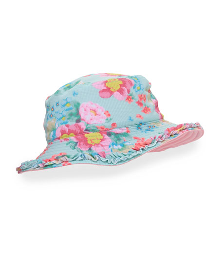 Spring Bloom Reversible Swim Hat, Multicolor