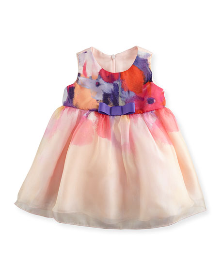 Zoe Sleeveless Floral A-Line Dress, Multicolor, Size 12-24 Months