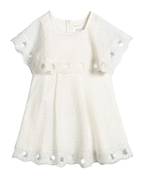 Chloe Guipure Couture Popover Dress, Cream, Girls' Size