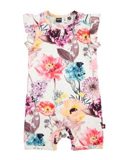 Faris Floral Jersey Shortall, Hyper Bloom, Size 3-12 Months