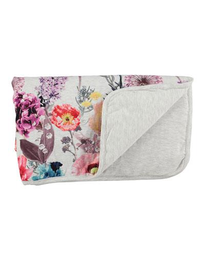 Neala Floral Blanket, Hyper Bloom