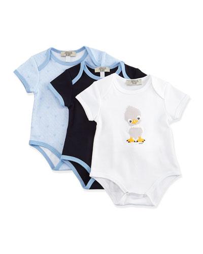 Cotton Playsuit Gift Set, Blue, Size 3-9 Months
