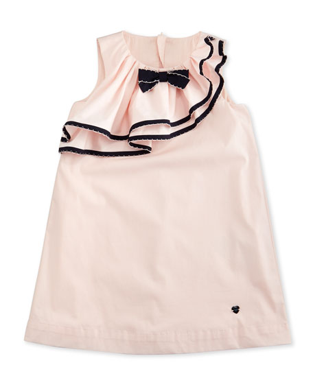 Armani Junior Sleeveless Ruffle-Trim Shift Dress, Orchid, Size