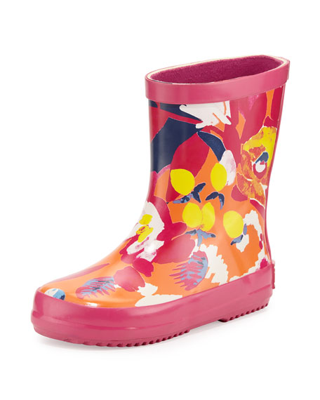 Catimini Floral Rubber Rain Boot, Red, Toddler/Infant
