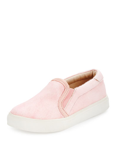 Fur Skate Shoe, Pale Pink, Toddler/Youth