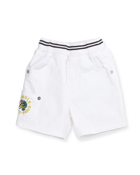 Kenzo Twill Bermuda Shorts, White, Size 6M-2