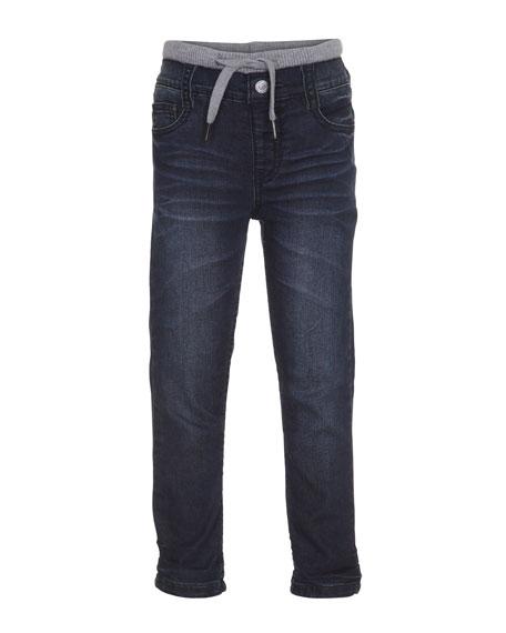 molo Augustus Drawstring Jeans, Indigo Shadow, Size 4-6
