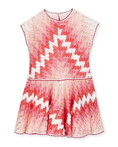 Sleeveless Guipure A-Line Dress, Multicolor, Size 6-10