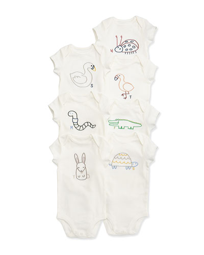 Sammie 7-Day Playsuit Set, White, Size 3-9 Months