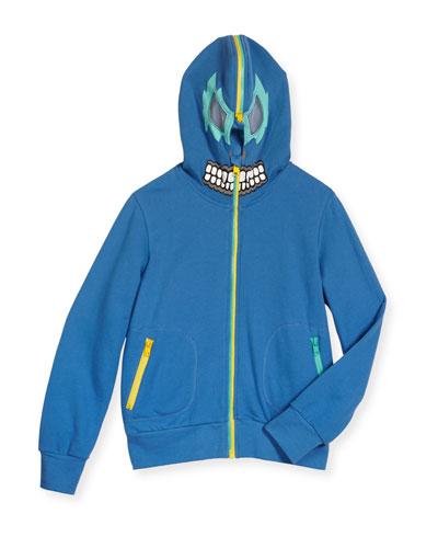 Bandit Zip-Front Hooded Sweatshirt, Blue, Size 4-10