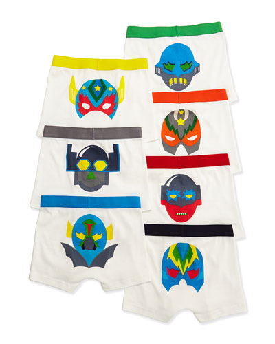 Arthur 7-Day Monster Boxer Brief Set, White, Size 4-10