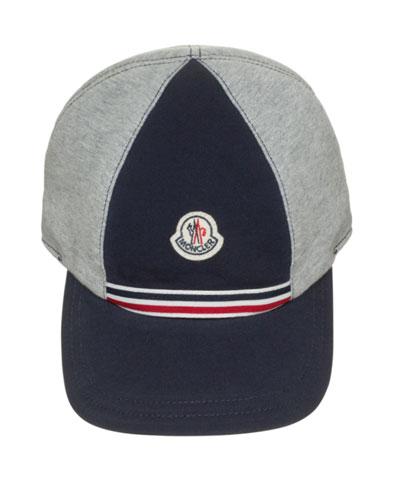 Cotton Baseball Cap, Gray/Navy