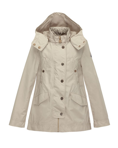Armance Hooded Jacket, Tan, Size 8-14