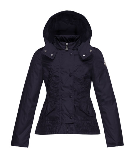 Canada Goose womens replica price - Moncler Ayrolette Hooded Raincoat, Dark Blue, Size 8-14