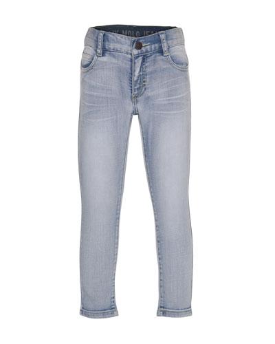 Faded Stretch Skinny Jeans, Heavy Blast, Size 4-14